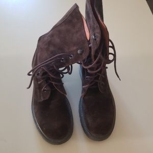 New in Box J.Crew Brown Suede lace-up boots combat